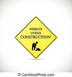 Website Under Construction Sign