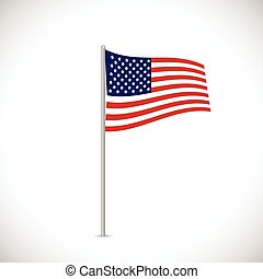USA Flag Illustration - Illustration of the flag of the USA...