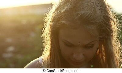 young beautiful blonde girl