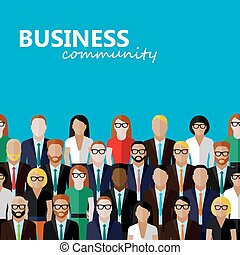vector flat illustration of business or politics community a...