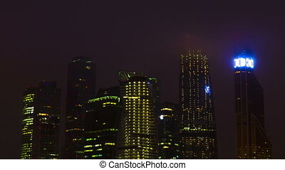 New City center night view, on December 13th, 2014 in...