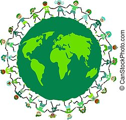 earth kids - Green environmentally aware global kids...