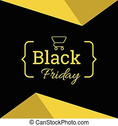 black Friday sale. - Banner or poster template for black...