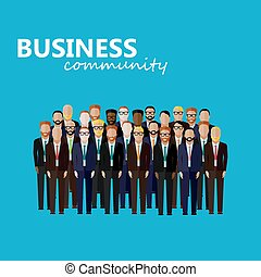 vector flat  illustration of business or politics community. a l