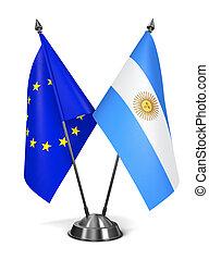 UE, e, Argentina, -, miniatura, Flags.,