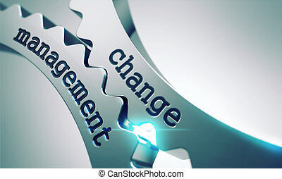 Change Management Concept on the Gears. - Change Management...