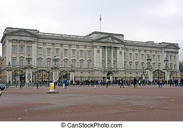LONDON - November 28: Buckingham Palace, London, England on...