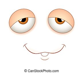 Lazy Face Expression - Lazy Cartoon Face Expression Vector...