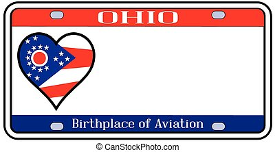 Ohio License Plate - Ohio state license plate in the colors...