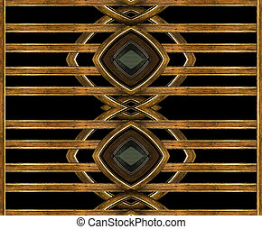 Egyptian Style Background - Digital art photo collage...
