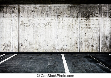 Concrete wall underground garage interior background texture...