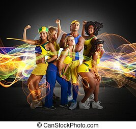 Fitness team - Big team of fitness and gym trainer