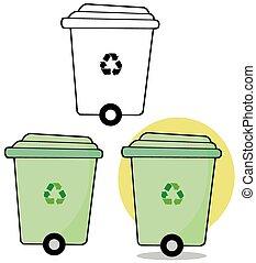 Rolling Green Recycle Bin
