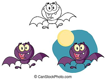 Halloween Bat Flying. Collection