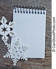 background - Christmas background, artificial snowflakes...
