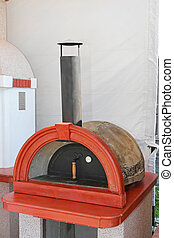 Pizza oven - Traditional Italian mansonry wood fired brick...
