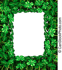 Clover Leaf Frame border - Saint Patricks Day clover leaf...