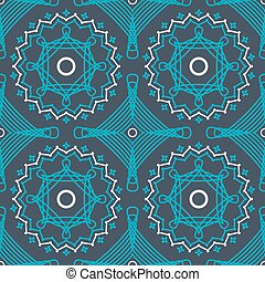 abstract vector seamless pattern with graceful lace lineart orna