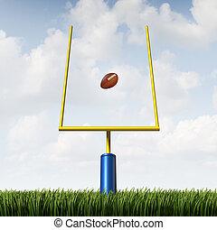 American Football Goal - American football field goal...