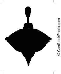 whirligig - black silhouette of vintage whirligig
