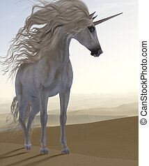 Desert Dune Unicorn - A Unicorn is a creature of fantasy and...
