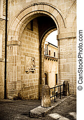Contrasty Archway in San Marino Europe.