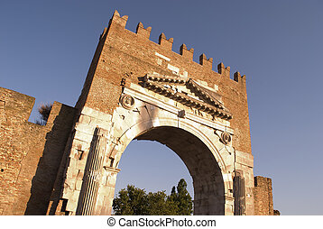 The arch of Augustus, Rimini,Italy.