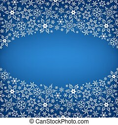 Winter luxury stylish frame with snowflakes - Beautiful...