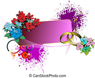Wedding or Valentine`s day card. Vector illustration. Can be used as invitation