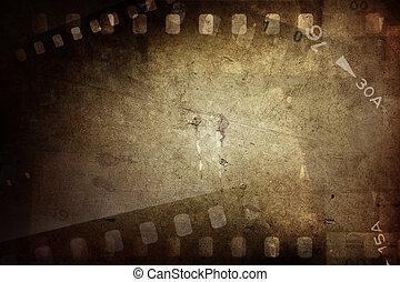 Film frames  - Film negative frames on grunge background