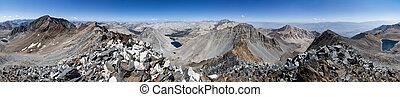 360 Degree Sierra Mountain Panorama - 360 degree Sierra...