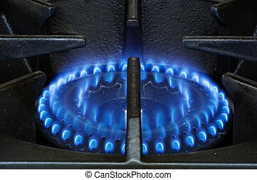 Stove Burner - heavy duty natural gas stove burner with blue...