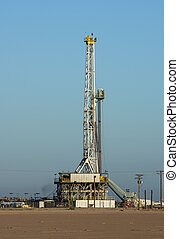 Drilling Rig - drilling rig set up in the desert