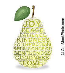 Fruit of the Spirit - Pear representing the fruit of the...