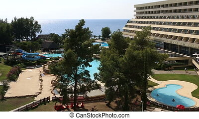 Water park and pool at Porto Carras Sithonia Northern Greece...