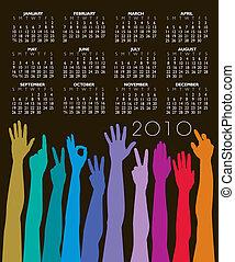 2010 calendar - 2010 hands calendar
