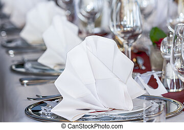 event catering - festive table at an event or in a...