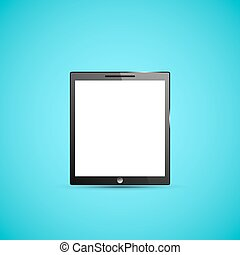 Tablet PC Computer Illustration, Graphic Concept For Your...