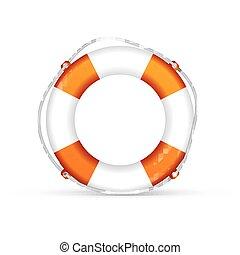 life buoy - orange life buoy. Vector, excellent vector...
