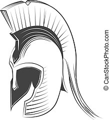 Greek Helmet - Ancient Greek Helmet Spartan Style Isolated...