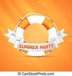 life buoy - yellow life buoy Vector, excellent vector...