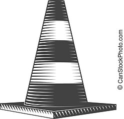 traffic cone - Vector illustration of traffic cone,...