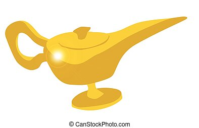Genie Magic Lamp - The Genie magic lamp from the arabian...