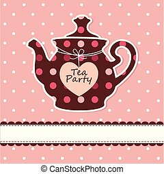 Card with teapot