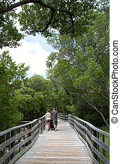 Strolling Along Boardwalk