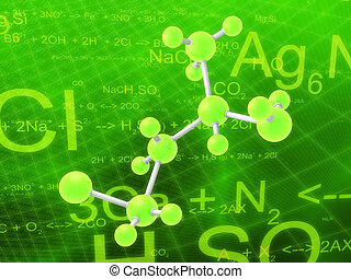 science illustration - 3d rendered illustration of formulas...