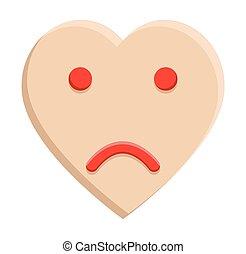 Sad Smiley Heart