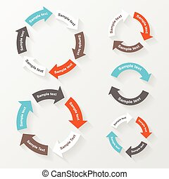 Vector circle arrows for infographic. Template for diagram,...