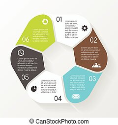 Vector circle hexagon infographic. Template for diagram,...