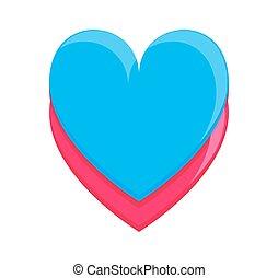 Coração, Quadro, coloridos